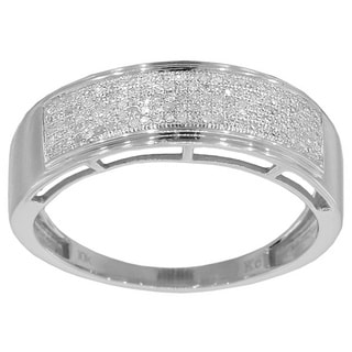 10k Yellow or White Gold 1/3ct TDW Men's Diamond Ring (G-H, I2-I3)