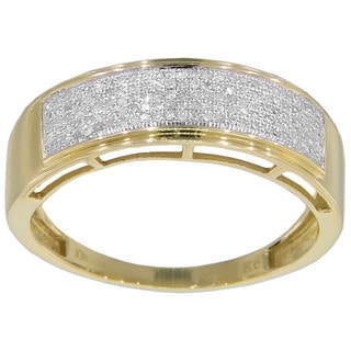 10k Yellow or White Gold 1/3ct TDW Men's Diamond Ring