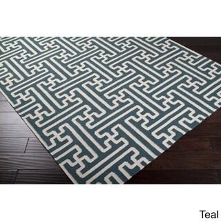 Hand-Woven Dorothy Geometric Wool Rug (9' x 13')