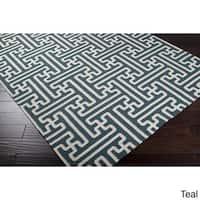 Hand-Woven Dorothy Geometric Wool Area Rug