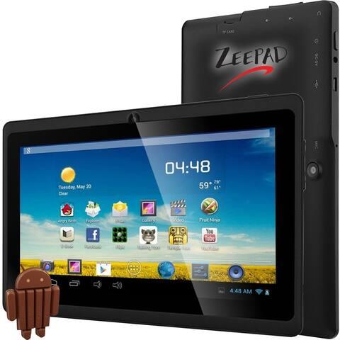 "Zeepad 7DRK-Q Tablet - 7"" WVGA - 512 MB RAM - 4 GB Storage - Android 4.4 KitKat - Black"