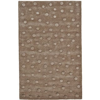 Grand Bazaar Hand Tufted Wool Rug in Brown (3'6 x 5'6)