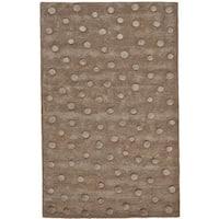 "Grand Bazaar Hand Tufted Wool Rug in Brown (3'6 x 5'6) - 3'6"" x 5'6"""