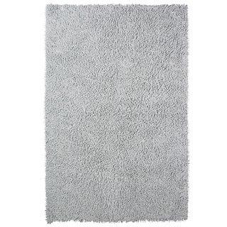 Grand Bazaar Chenille Shag Grey Rug (4' x 6')