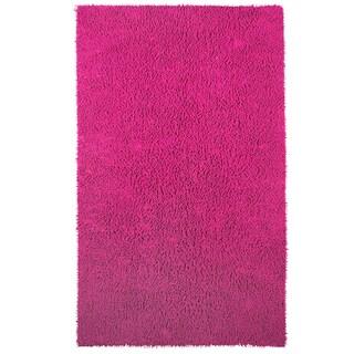 Grand Bazaar Chenille Shag Pink Rug (4' x 6')