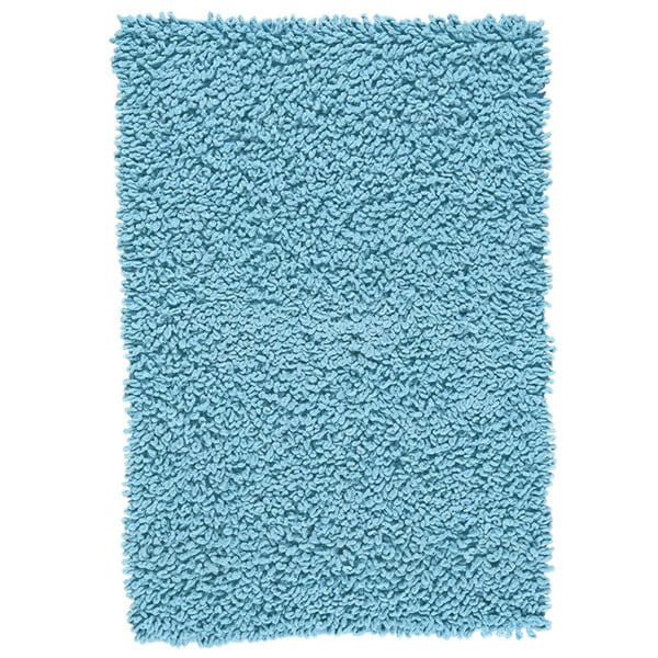 Shop Grand Bazaar Chenille Big Loop Aqua Area Rug 4 X 6