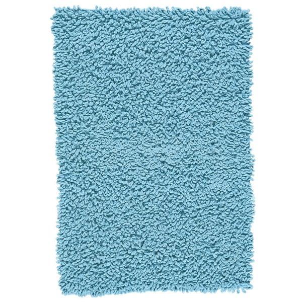 Grand bazaar chenille big loop aqua area rug 4 39 x 6 for Home decorators chenille rug