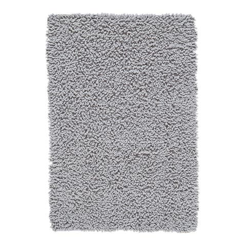 Grand Bazaar Chenille Big Loop Grey Area Rug - 4' x 6'