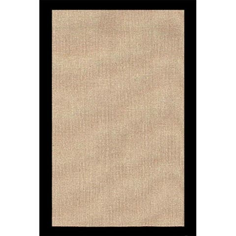 Grand Bazaar Jute Rug with Black Border (5' x 8') - 5' x 8'