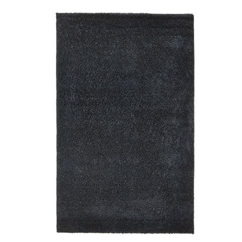 Grand Bazaar Everyday Shag Rug in Black, (5' x 8') - 5' x 8'