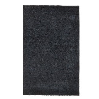 Grand Bazaar Everyday Shag Area Rug in Black (5' x 8')