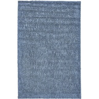 Grand Bazaar Everyday Shag Area Rug in Teal (5' x 8')