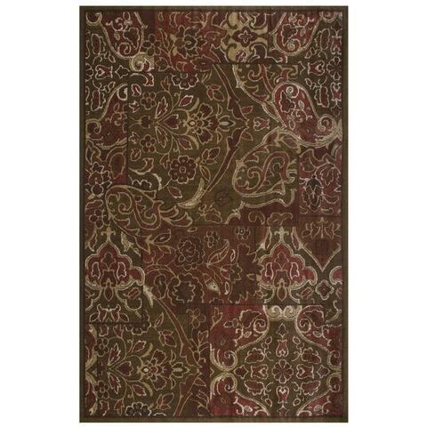 """Grand Bazaar Camden Red Multi Rug (5'3 x 7'6) - 5'3"""" x 7'6"""""""