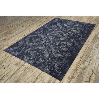 Grand Bazaar Power-Loomed Art Silk Chantal Rug in Ash (5' x 7'6)