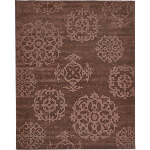 Grand Bazaar Hand Tufted Wool Mocha Area Rug (7'6 x 9'6)
