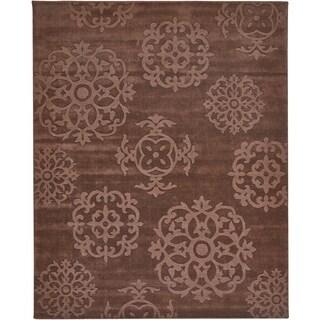 Grand Bazaar Hand Tufted Wool Mocha Rug 7'6 x 9'6