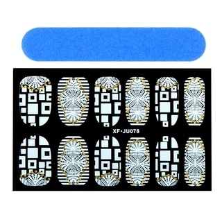 Zodaca Totem Nail Art Design Idea Stickers Lace Design 3.9x2.4-inch