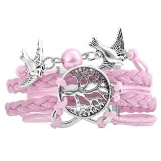 Zodaca Fashion Multi-string Leather Velvet Bracelet with Alloy Charms (3 options available)