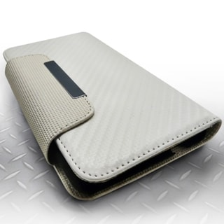 INSTEN Plain Leather Fabric Snap-on Phone Case Cover With Magnetic Flip For Samsung Galaxy Note 3