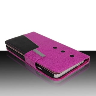 INSTEN Design Style Leather Fabric Phone Case Cover With Magnetic Flip For Apple iPhone 4/ 4S