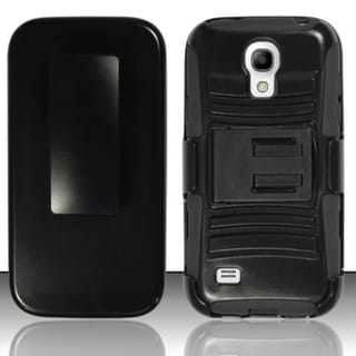 INSTEN Advanced Armor Soft Silicone Hybrid Hard Plastic Phone Case Cover with Stand/ Holster For Samsung Galaxy S4 Mini