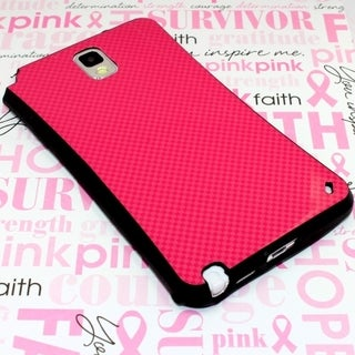 INSTEN Plain Checker Hard Plastic Slim Snap-on Phone Case Cover For Samsung Galaxy Note 3