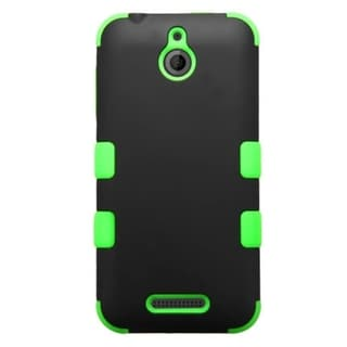 INSTEN Dual-color Soft Silicone Hybrid Hard Plastic Rubberized Matte Phone Case Cover For HTC Desire 510