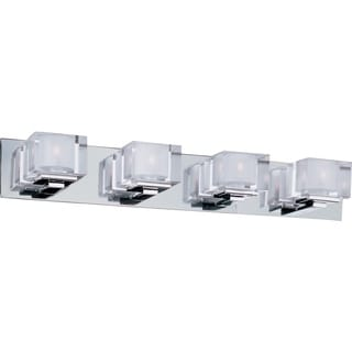 Maxim Cubic Chrome 4-light Bath Vanity