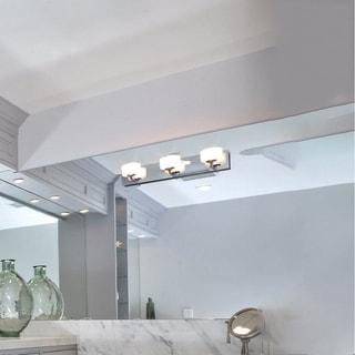 Maxim Essence Nickel 3-light Bath Vanity