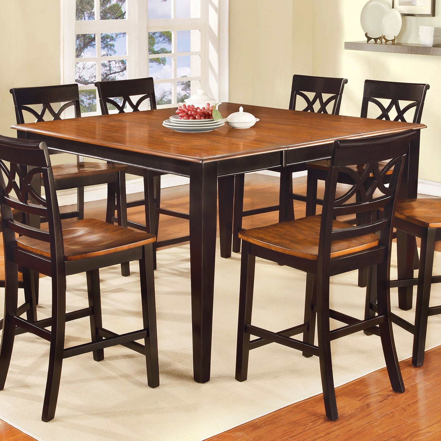 Delightful Furniture Of America Betsy Joan Two Tone Counter Height Dining Table