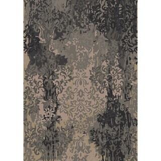 Hand-knotted Anastasia Damask New Zealand Wool Rug (2' x 3')