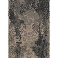 Hand-knotted Anastasia Damask New Zealand Wool Area Rug - 2' x 3'