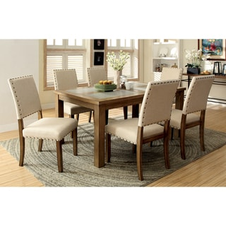 Furniture of America Rick Industrial Natural 7-piece Dining Set