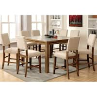 Veronte Industrial Natural 9-piece Counter Height Dining Set by FOA