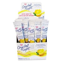 Crystal Light Flavored Drink Mix, Lemonade, 30 .17 ounce Packets per Box