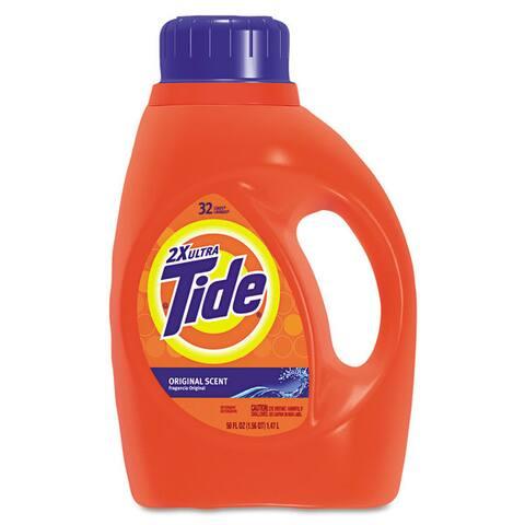 Tide Ultra Liquid Laundry Detergent, 50 ounces - Blue