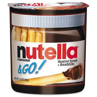 Nutella Hazelnut Spread and Breadsticks, 1.8 ounces, 12 per Box