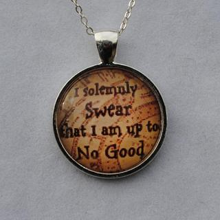 Solemn Swear' Glass Dome Pendant Necklace