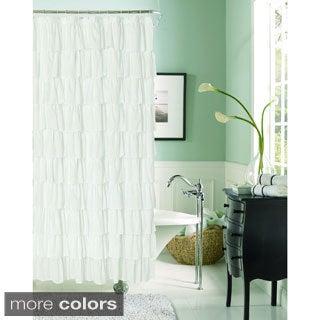 Flamenco Ruffle Shower Curtain