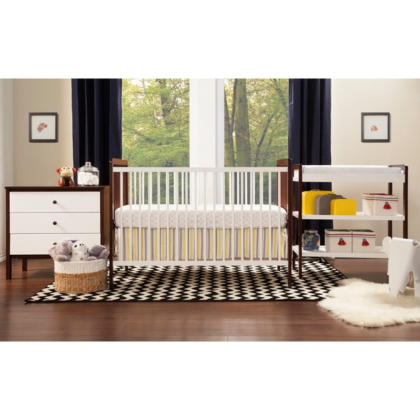 Superbe Payton 4 Piece All In One Modern Nursery Set   Espresso