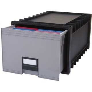 Plastic Archive Storage Box, Letter/ Legal, 24-Inch Drawer, Black|https://ak1.ostkcdn.com/images/products/9781208/P16951009.jpg?_ostk_perf_=percv&impolicy=medium