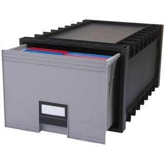Plastic Archive Storage Box, Letter/ Legal, 24-Inch Drawer, Black|https://ak1.ostkcdn.com/images/products/9781208/P16951009.jpg?impolicy=medium