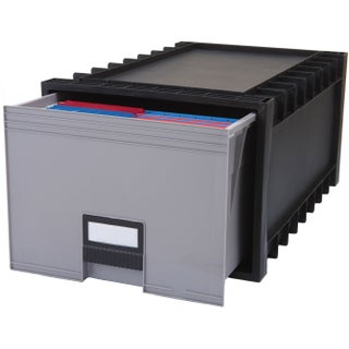 Plastic Archive Storage Box/ Letter& Legal size / 24-Inch Drawer, Black