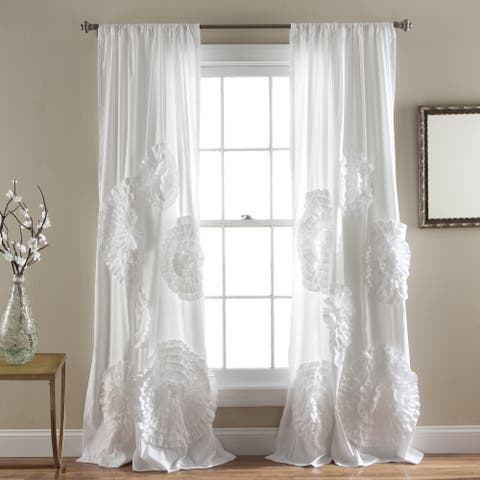 Silver Orchid Ince Flora Curtain Panel