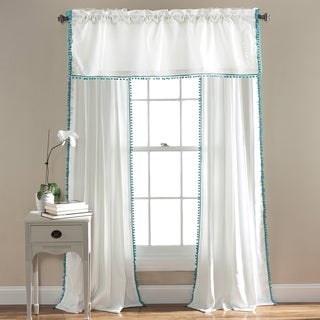 Lush Decor Pom Pom 84-inch Curtain Panel - 50 x 84