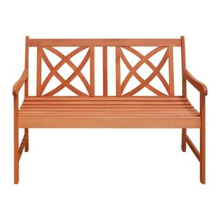 Eco-friendly 4-foot Wood Garden Bench