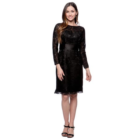 Robin DS Women's Short Lace Sleeved Social Occasion Dress