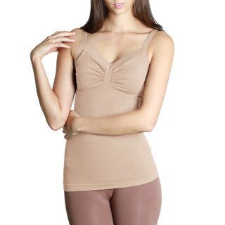 Nikibiki Seamless Wide Strap Ribbed Bodice Camisole Top (3 options available)