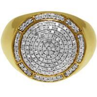 10k Yellow Gold 1/2ct TDW White Diamond Ring