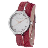 Stuhrling Original Women's Swiss Quartz Double Leather Strap Watch